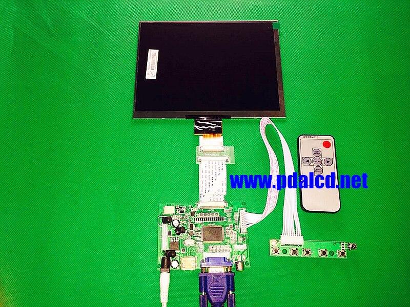HDMI/VGA/AV Control Driver Board + 8inch HJ080IA-01E 1024*768 IPS high-definition LCD Display For Raspberry Pi