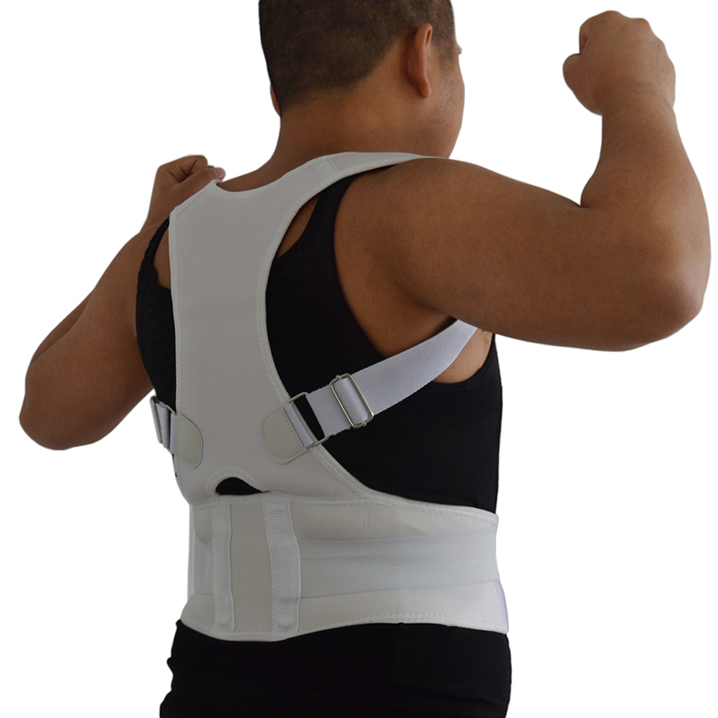 Magnetic Therapy Corset Men's Posture Corrector Back Support Vest with Magnet Stone