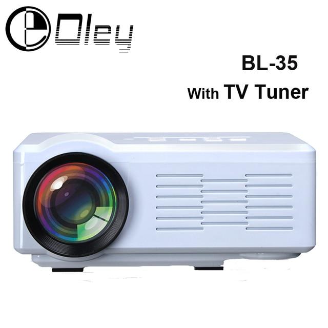 Original OLEY BL-35 TV Projector Pico LED Home Cinema Proyector USB SD AV HDMI Projector 1000Lumens HD 3D Multimedia Projector