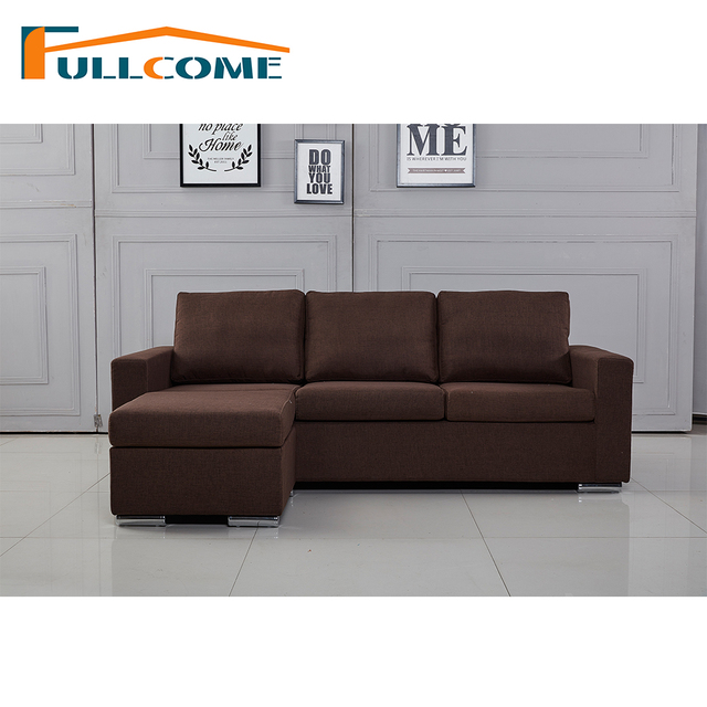 China Home Furniture Modern Leather Scandinavian Sofa Love Seat Chair Living Room Set Feather Fabric