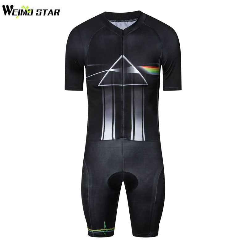 WEIMOSTAR Men Short Sleeve Cycling Skin suit Bike Bicycle Triathlon Clothes Riding Set One Piece Compressed Cycling Clothing life on track men s compression riding underwear set long sleeve suit workout bicycle clothing set