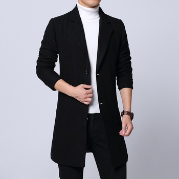 2018 winter Mens fashion Classic business trench Coat men's high quality Jacket Men Casual Coats Mens Classic windbreaker