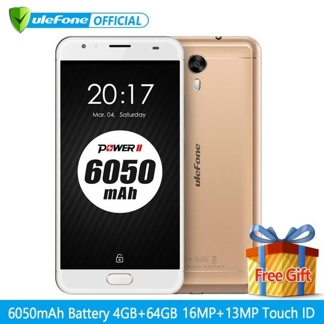 "Оригинал Ulefone питания 2 смартфон 5.5 ""FHD MTK6750T Octa core android 7.0 4 ГБ + 64 ГБ 16MP 6050 мАч большая батарея 4 г мобильного телефона"
