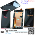 Original Black/Red/Yellow Full LCD Display&Touch Screen Digitizer Assembly+frame For HTC Desire 600 606 606w dual Sim,Test+Track