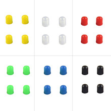 1 pieces / 4 pieces Plastic auto Dust Valve Caps Bike Car Wheel Tyre Air Valve Stem Caps Motorcycle Tyre Air Valve Caps(China)