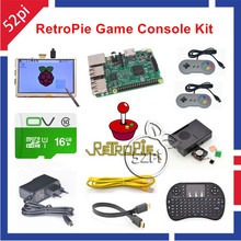 Sale 52Pi 2017 Raspberry Pi 3 Model B 16GB Game Console Kit with 2pcs SNES Gamepads Controllers and 5 inch 800*480 Touch Screen