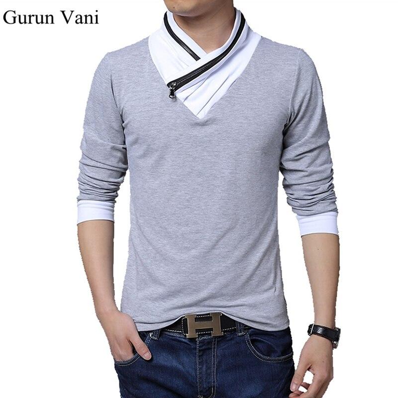 Unique And Fashionable Long Men: New Brand Clothes Men Long Sleeve T Shirt Unique Collar