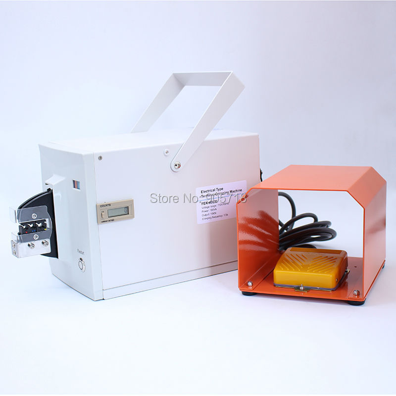лучшая цена High Quality FEK-60EM Electrical Type Crimping Machine Electrical Crimper for Different Terminals Cable tools Wire Crimp Tool