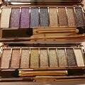 9 Colores Diamante Brillante de Maquillaje Desnudo de Sombra de Ojos Paleta de Maquillaje de Sombra de Ojos Set Profesional Smoky Cosmético Con El Cepillo Cosplay