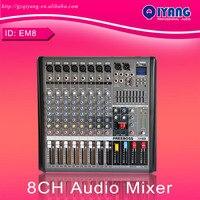 Freeboss em8 8 Каналы аудио смеситель профессиональный dj консоль с 48 В Фантом звука студийный микшер Системы dj микшер