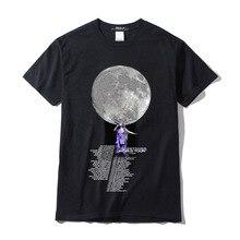 Эксклюзивная коллекция, женская футболка с изображением лунного света, большие размеры, женская футболка, женская футболка с круглым вырезом для влюбленных, женская короткая футболка L2E28