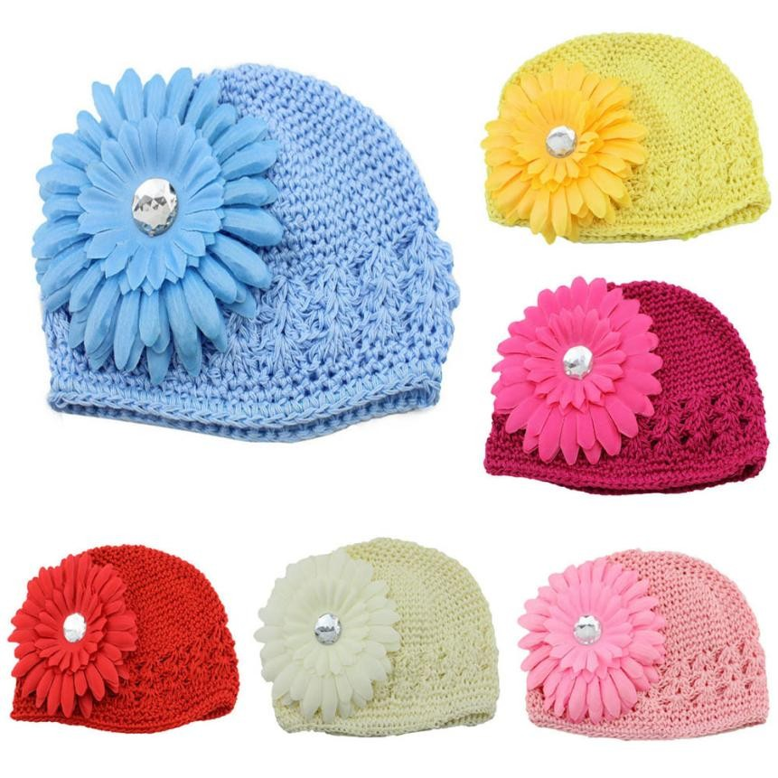 Spring autumn Cotton Newborn Baby Flower Cotton Hat Beanie Toddler Girls Photography Props lowest price