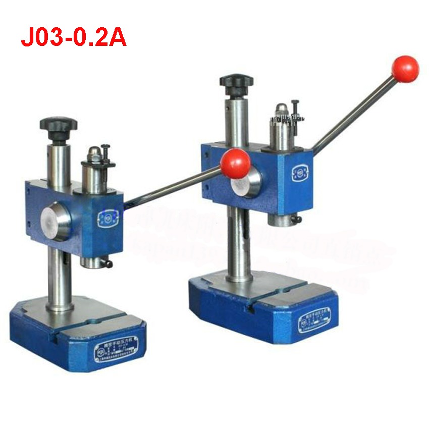 J03-0.2A precision manual press / hand pull punch,Maximum clamping height 90mm,Nominal pressure 2KN Manual Punching Machine