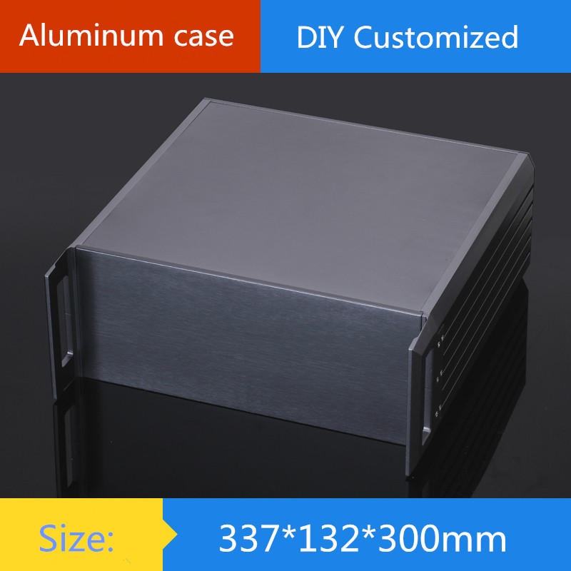 AMP case 337*132*300mm 3U aluminum chassis Instrumentation aluminum chassis amplifier aluminum shell/ case / enclosure / DIY box 3206 amplifier aluminum rounded chassis preamplifier dac amp case decoder tube amp enclosure box 320 76 250mm