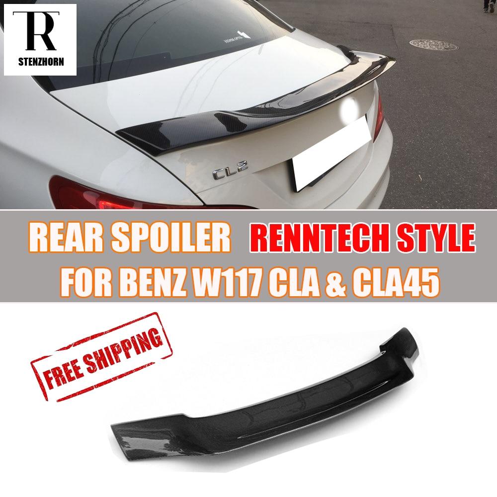 Mercedes-Benz Cla200 Cla220 Cla250 Cla45 Amg 2013 - 2019 üçün R Style W117 C117 Carbon Fiber Arka Spoyler