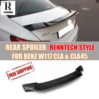 R estilo w117 c117 fibra de carbono spoiler traseiro para mercedes-benz cla200 cla220 cla250 cla45 amg 2013-2019