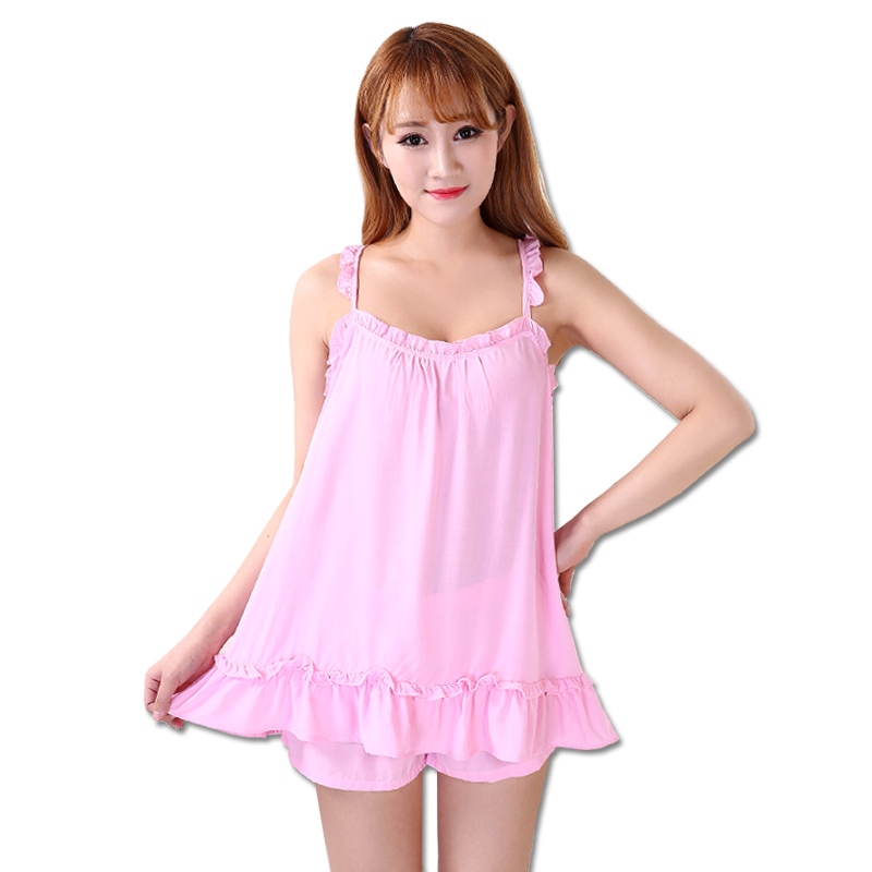 Summer Women's Pajamas Sling Printed shorts thin Vest sleeveless Sexy Cotton Women Pajama Set