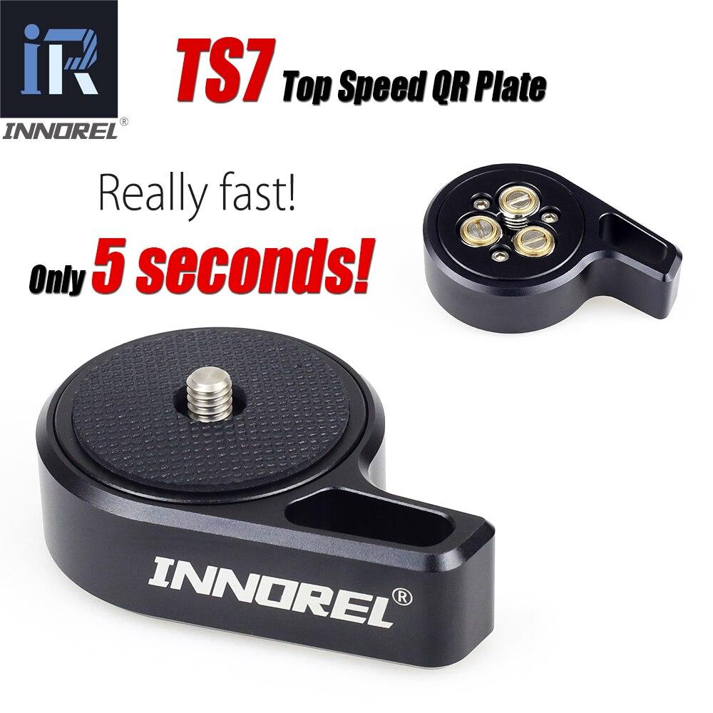 INNOREL TS7 Rapide Un Cadeau 1/4 -3/8 Vis Top Vitesse Changement pour Tête Trépied DSLR Stabilisateur curseur Flèche