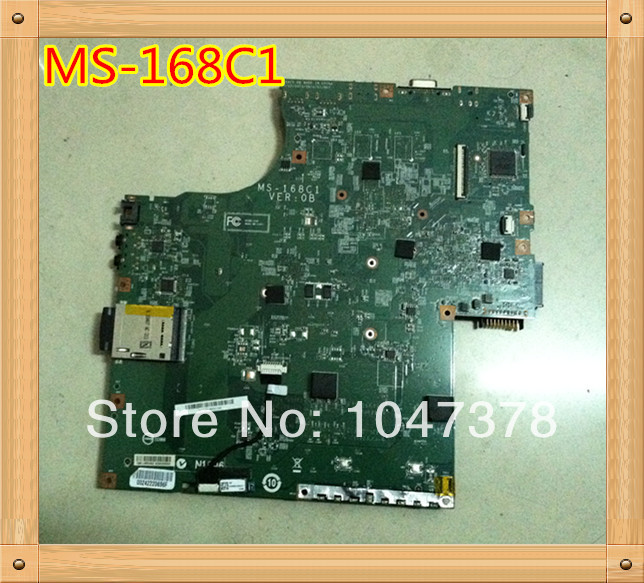 ФОТО 100% Original LAPTOP motherboard For MSI MS-168C1 168C1  MS168C1 MOTHERBOARD  100%tested ok