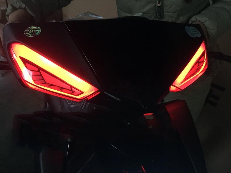 Image 3 - LED Motorcycle Turn Signal Lights Motorbike lndicator For Yamaha Scooter Cygnus xc fog lIGHT moto Tail Brake Lights Streamer