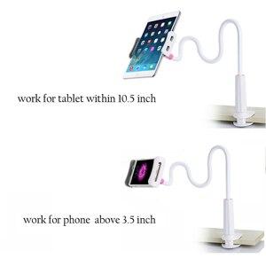 Image 3 - Гибкий Настольный держатель для планшета iPad Mini Air Samsung, подставка для ленивого планшета, ПК, крепление большого телефона