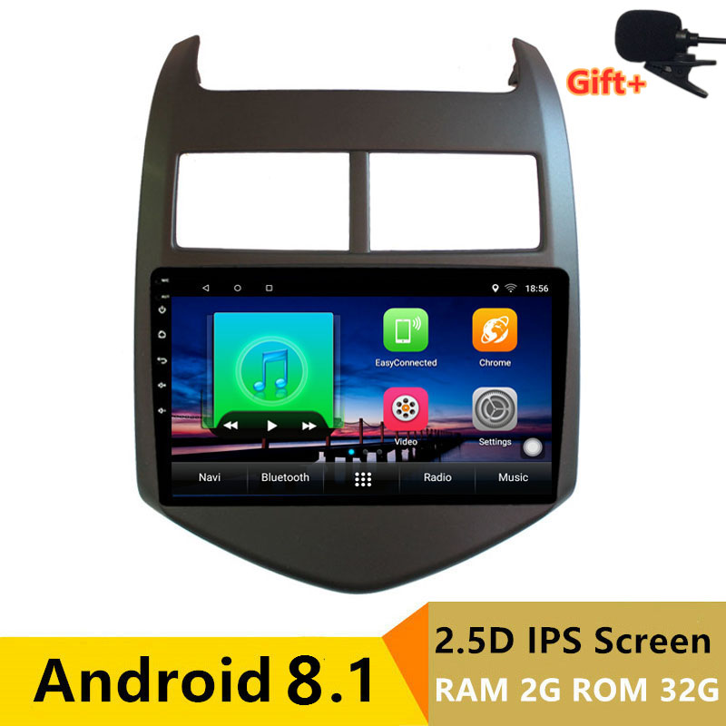 "9"" 2+32G 2.5D IPS Android 8.1 Car DVD Multimedia Player GPS for Chevrolet Aveo 2011 2012 2013 audio car radio stereo navigation"