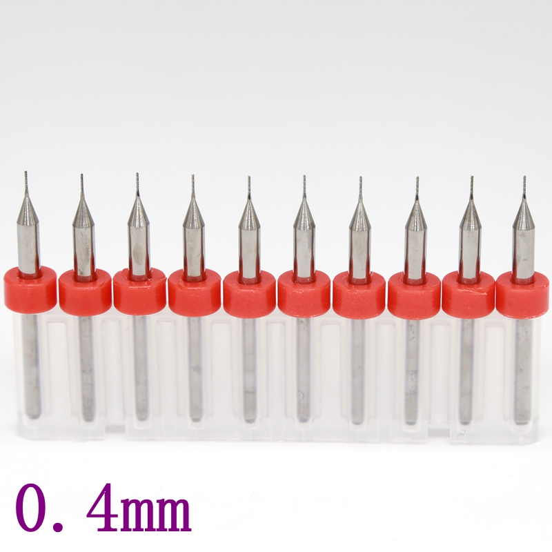 tungsten carbide titanium coated PCB cutter 3.175 * 0.4mm, CNC router tools, fish-tail corn milling cutter machine 10PCS titanium coating pcb bit tungsten carbide 10pcs 0 5mm metal drill cnc router tools miniature sculpture step drill kit
