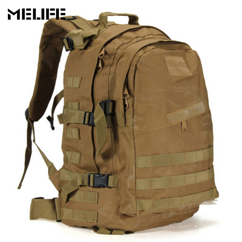 MELIFE Men Tactical Backpack Military Assault Pack Army Molle Waterproof Bag Large Rucksack For Outdoor Hiking Camping Hunting men s tactical molle assault go bag camouflage shoulder sling army bags military hiking camping pack fishing backpack xa192wd