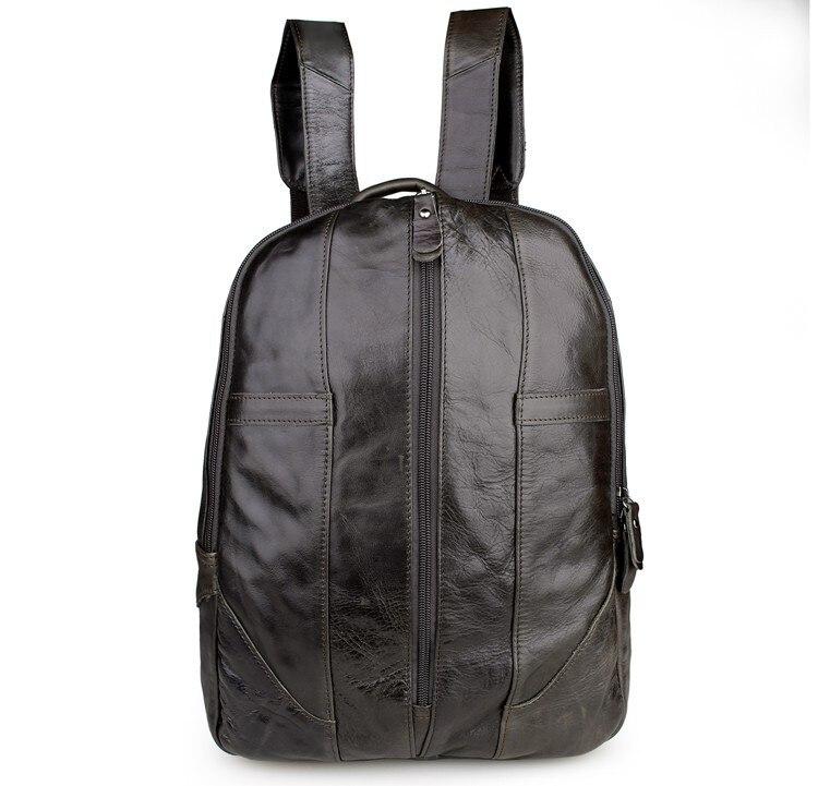 JMD 100% Genuine Leather Unisex Professional School Bag Vintage Backpack 7244J все цены