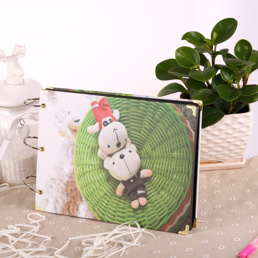 Scrapbook paper case - Aliexpress Com Buy 2015 New Paper Case Binding Scrapbook Paper Hot Sale Photo Album Happy Bear Pattern 10 Inch Diy Ablums Scrapbook Free Shipping From