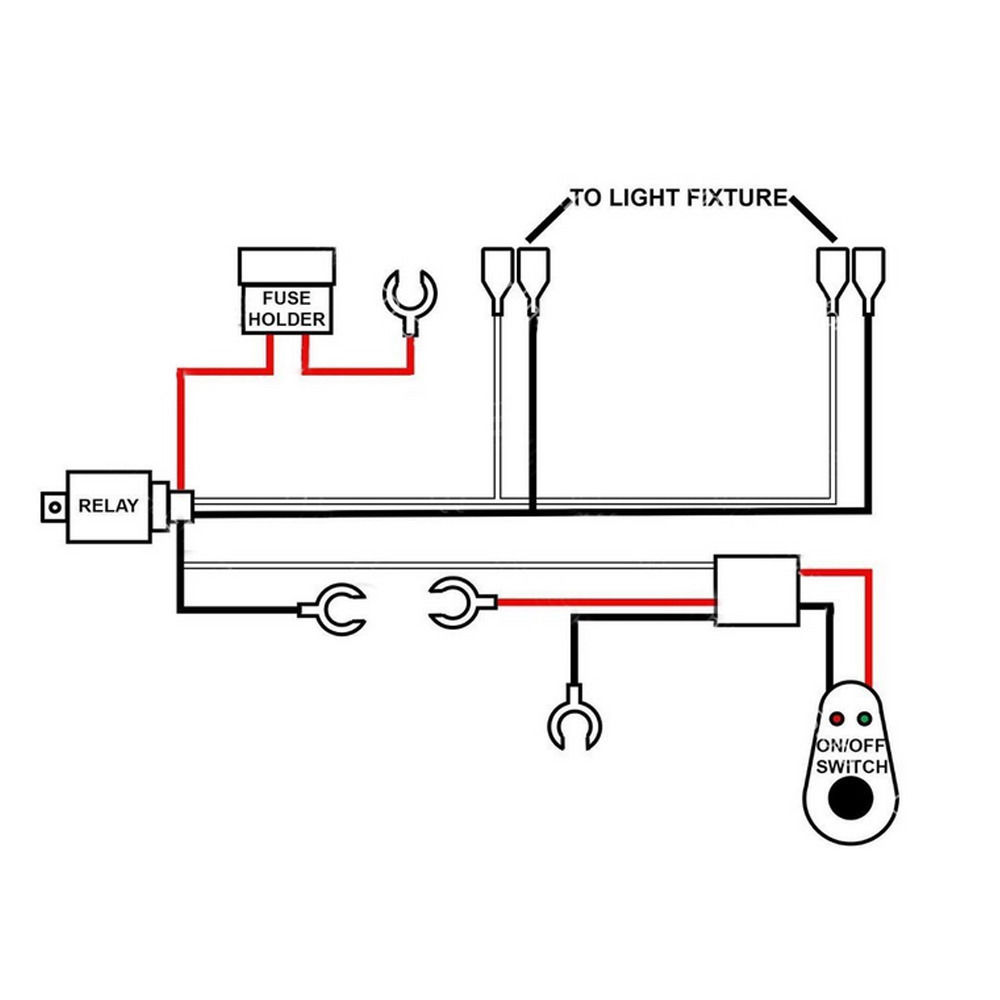 Ee Support 40a Wiring Harness Kit Red Led Light Bar Rocker Switch Diagram Spst In Parrallel Toggle Lamp Fuse Xyz Xy01 Car Switches Relays From Automobiles Motorcycles On