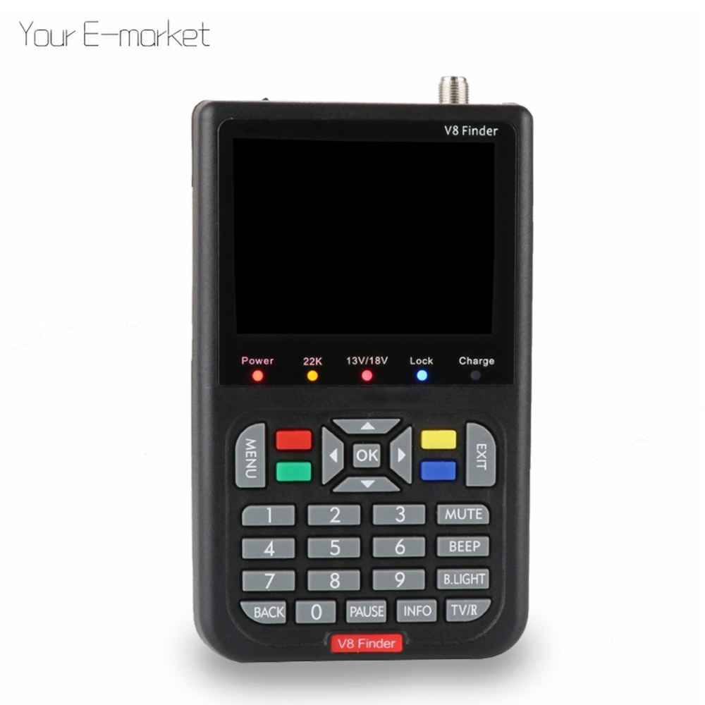 Satxtrem DVB-S2 V8 Finder HD Digital Satellite Finder Meter Full 1080P FTA 3.5 inch LCD Display SatFinder(China)