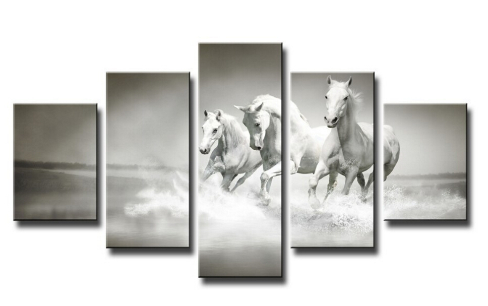 framed art high quality modern printed on canvas horse print painting wall art living room