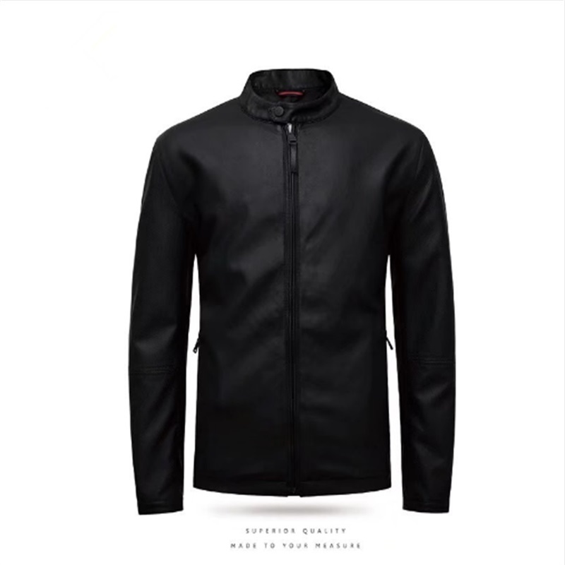 plus size new 2018 PU Leather Jacket Men Black Solid Mens Leather clothes Coats Trend Slim Fit Youth Motorcycle Suede Jacket