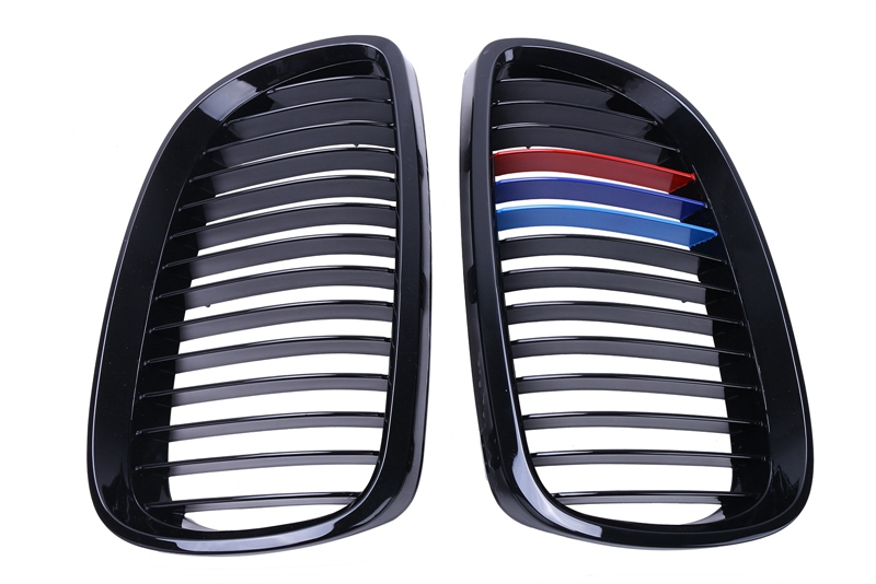 M Color Gloss Black Grill Front Kidney Grille For BMW E92 Coupe E93 Convertible M3 328i 335i 2 Door 2007 2010 #9212