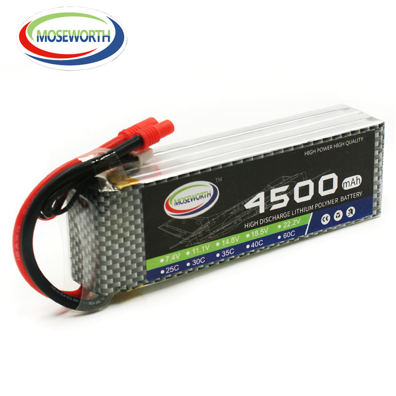 MOSEWORTH RC lipo Battery 4S 14.8V 4500mAh 30C T/XT60 lipo batteria for RC modlel aircraft quadcopter helicopter RC Drone  AKKU 3pcs battery and european regulation charger with 1 cable 3 line for mjx b3 helicopter 7 4v 1800mah 25c aircraft parts