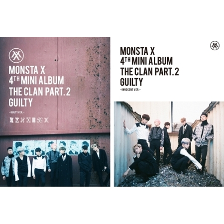MONSTA X 4TH MINI ALBUM - THE CLAN 2.5 PART.2 GUILTY  (INNOCENT + GUILTY VER.) SET  Release Date 2016.10.05 Kpop exo 4th album repackage the war the power of music chinese ver korean ver 2 version set release date 2017 09 06