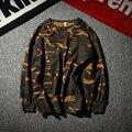 1:1 Kanye Высокое Качество Марка Мужчины С Длинным Рукавом Камуфляж ФУТБОЛКИ Хип-Хоп Скейтборд Harajuku Топы Тис Хлопок ОБЕЗЬЯНА Длинный футболка