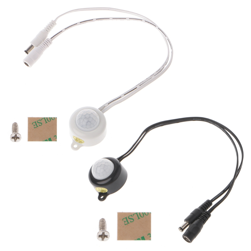 <font><b>DC</b></font> <font><b>5</b></font>-24V/<font><b>5A</b></font> With Plug For LED Strip Human Body Infrared PIR Motion Sensor Switch Energy-Saving TDL-2025-B Plastic image