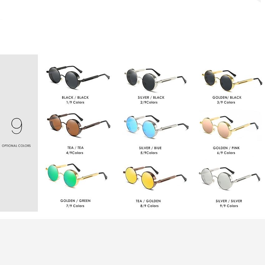 Gold Retro Metal Polarized Sunglasses 3