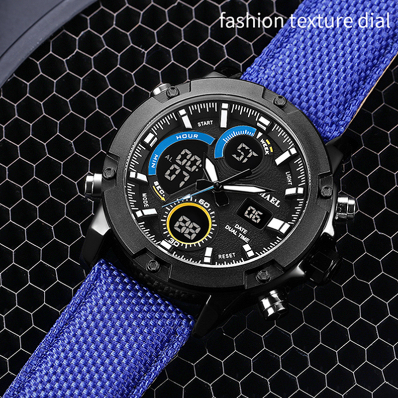 SMAEL Digital Watch Waterproof Alarm Clock Man Aolly Watch Dual Display 1325  Quartz Wristwatches Bracelet Leather Men Watches-in Quartz Watches from  Watches ... 722ec596cd0