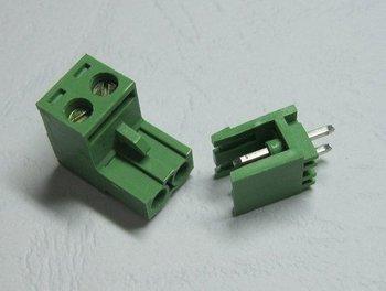 Free shipping 200PCS 300V 15A Green L Type 2pin/way 5.08mm Screw Terminal Block Connector 200 pcs per lot hot sale