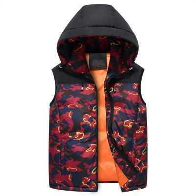 6XL 7XL 8XL Men Vest Coat Male Light Thin Camouflage Down Cotton Fashion Slim Fit Down Vest Autumn Winter Warm Waistcoat A4133