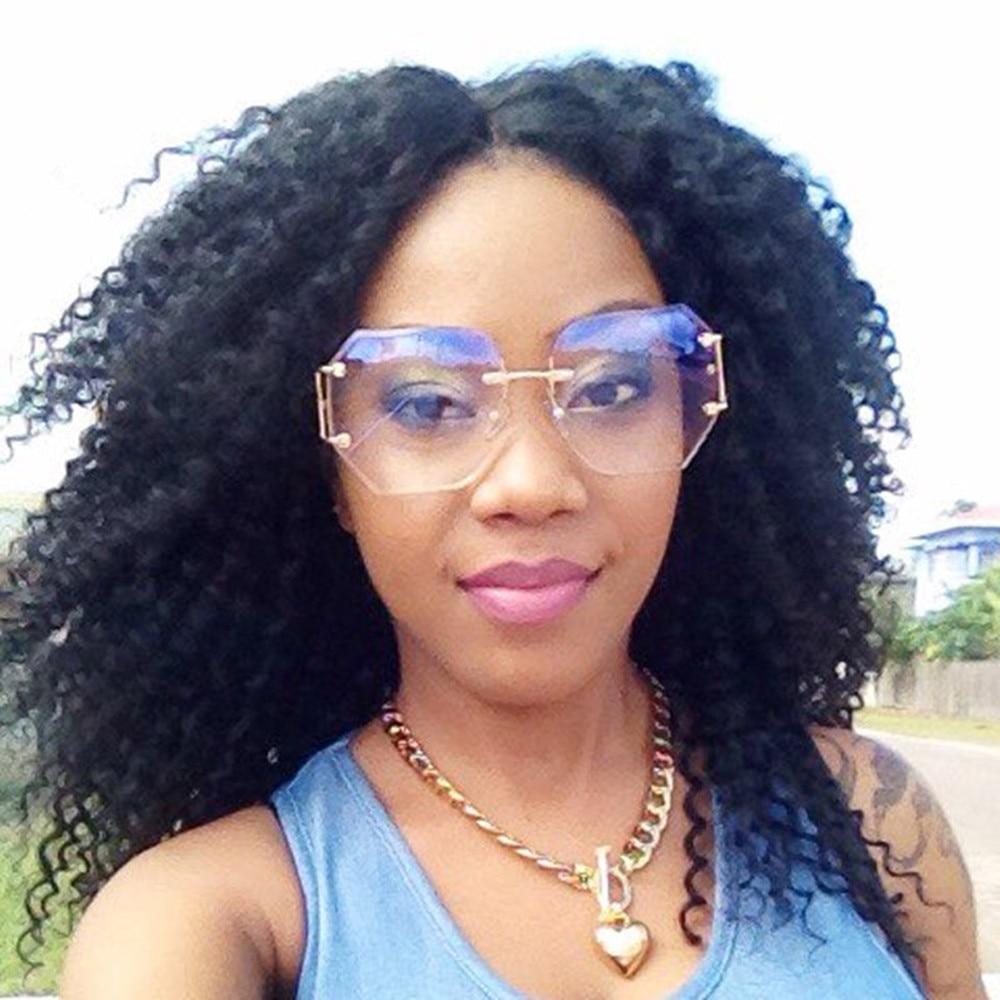 e597dfc5f1c4 Rimless Gradient Classic Eyeglasses Sunglasses Optics Metal Frame Women Men  UV400 Vintage Sun Glasses Frame Retro Oversized 2017