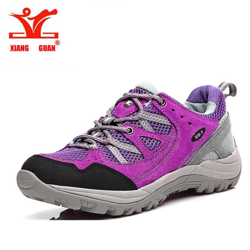 ФОТО High Quality Womens Sport Outdoor Hiking Trekking Shoes Sneakers For Women Sports Climbing Mountain Shoe Woman Sneaker