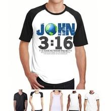 Christian T-Shirt  John 3:16 – For God so Loved the World  S-6XL