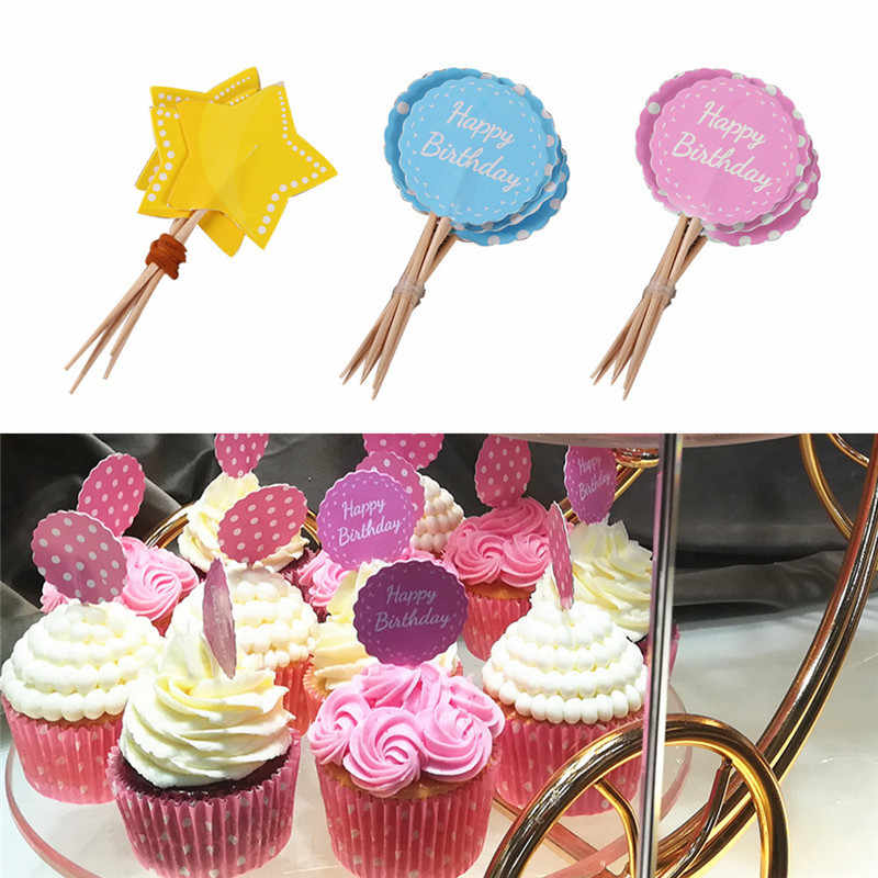Amazing 8Pc Lot Childrens Birthday Cake Toppers Star Round Birthday Cup Funny Birthday Cards Online Barepcheapnameinfo