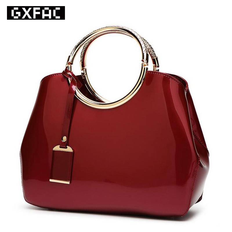 2017 High Quality Patent Leather Women bag Ladies Cross Body messenger Shoulder