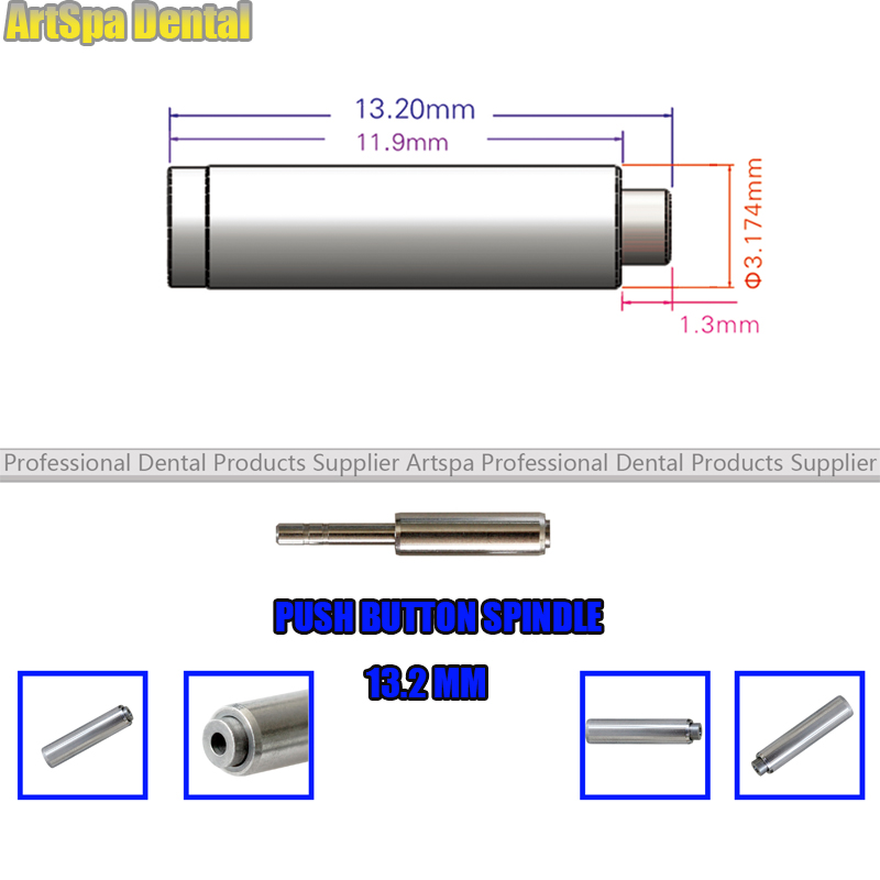 5PCS 13 2mm Dental Push Button Spindle For Maintenance High Speed Handpiece Rotor