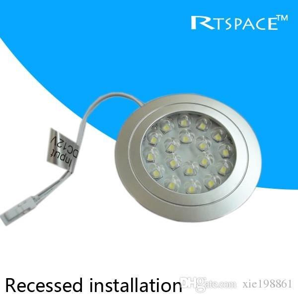 recessed installation dc 12v 1pcs lots 1 5w led puck cabinet light